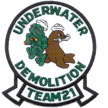 UDT-21 Underwater Demolition Team Seal Patch