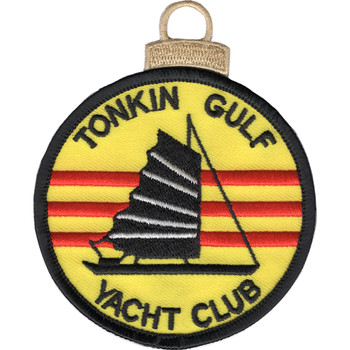 Tonkin Gulf Yacht Club Embroidered Christmas Tree Ornament