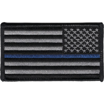 Thin Blue Line Flag Patch Right Shoulder or Revers Facing