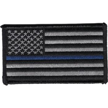 Thin Blue Line Flag Patch Left Shoulder or Regular Facing