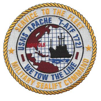 T-ATF-172 USNS Apache Powhatan class ocean going tug ship patch