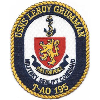 T-AO 195 USNS Leroy Grumman Patch