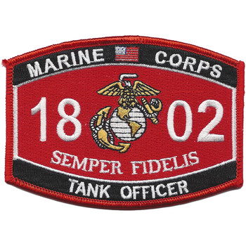 Tank Officer MOS 1802 Patch