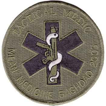 Tactical Medic Patch Mean Medicine Baghdad 2005 ACU