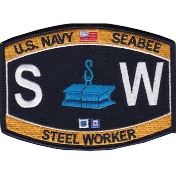 SW Construction Rating Steel Worker Patch Seebee