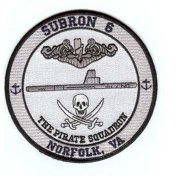 Submarine Squadron Six Norfolk, Virginia Patch