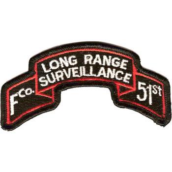51st Infantry F Co Long Range Scroll Patch