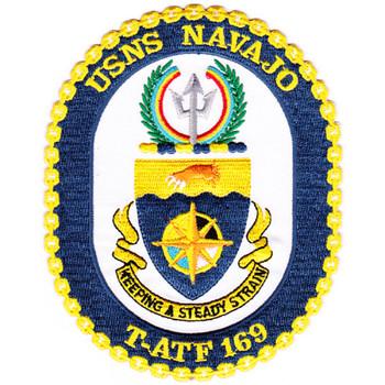 USNS Navajo T-ATF-169 Auxiliary Fleet Tug Ship Patch