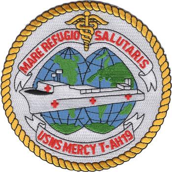USNS Mercy T-AH-19 Hospital Ship Patch