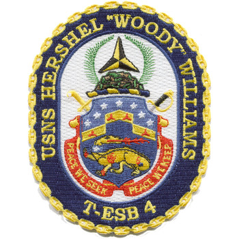 "USNS Hershel ""Woody"" Williams T-ESB-4 MOH Patch"