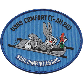 USNS Comfort T-AH 20 Hospital Ship Eh Doc. Patch