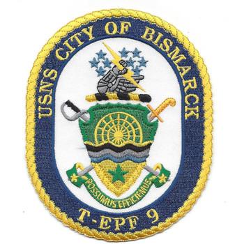 USNS City of Bismarck T-EPF 9 Patch