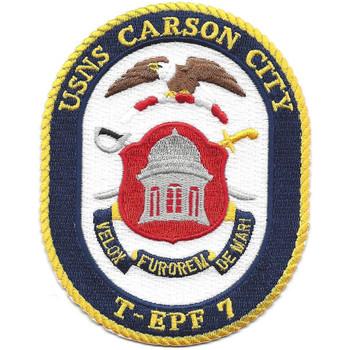 USNS Carson City T-EPF-7 Patch