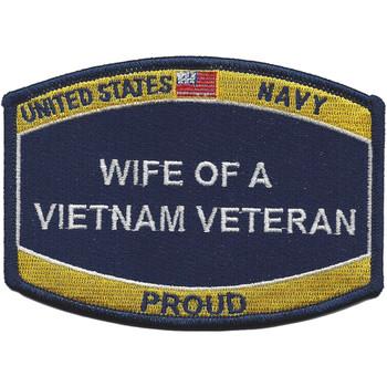 U.S. Navy Wife Of A Vietnam Veteran Patch