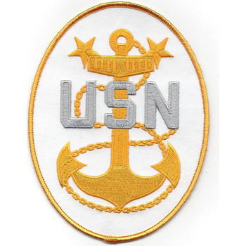 U.S. Navy Master Chief Crest Back Patch