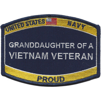 U.S. Navy Grand-Daughter Of A Vietnam Veteran Patch