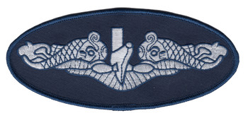 US Navy Enlisted Submarine Qualification Insignia Large Dolphins Patch