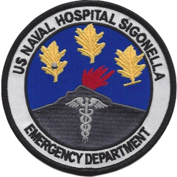 US Naval Hospital Sigonella Sicily Italy Patch