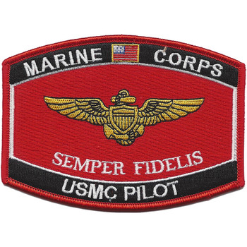 U.S.M.C. Pilot Wings MOS Patch