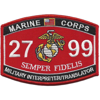 USMC 2799 MOS Interpreter/Translator Patch