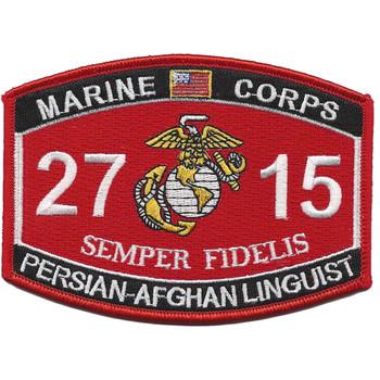 U.S.M.C. 2715 MOS Persian-Afghan Linguist Patch