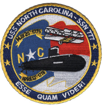 SSN-777 USS North Carolina Fast Attack Nuclear Submarine Patch