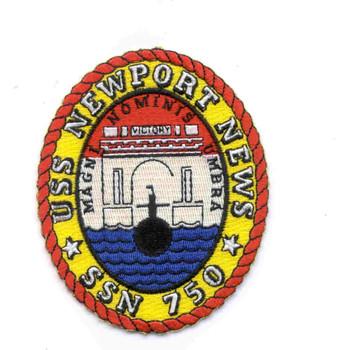 SSN-750 USS Newport News Patch
