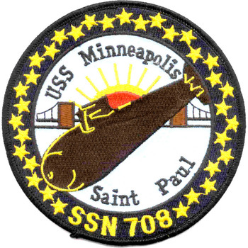 SSN-708 USS Minneapolis Patch
