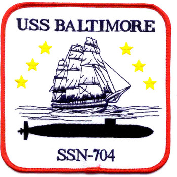 SSN-704 USS Baltimore Patch