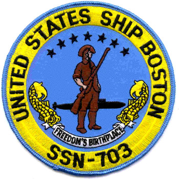 SSN-703 USS Boston Patch