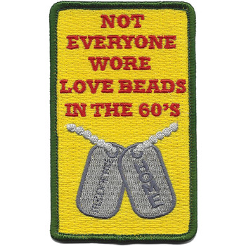 The 60'S Dog Tag Love Beads Patch