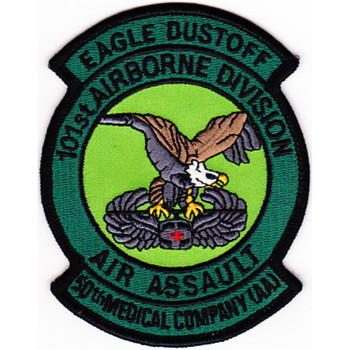 50th Aviation Medical Company 101st Airborne Division Patch