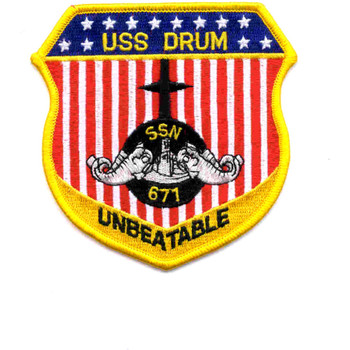 SSN-677 USS Drum Patch