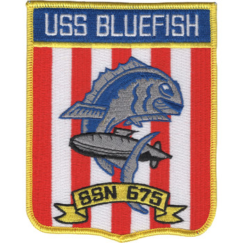SSN-675 USS Bluefish Patch
