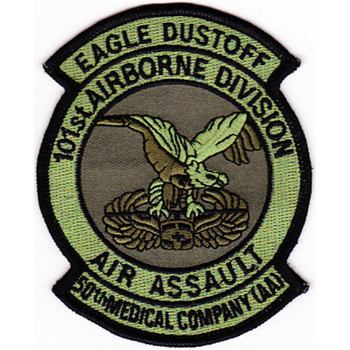 50th Aviation Medical Company 101st Airborne Div Air Assault Patch OD