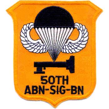 50th Airborne Signal Battalion Patch