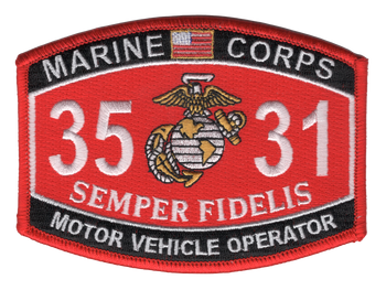 3531 Motor Vehicle Operator MOS Patch