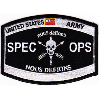 Special Operations Nous Defions Patch