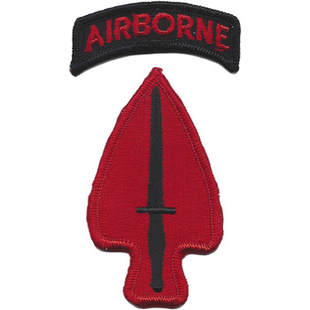 Special Operations Command Patch With Airborne Tab USASOC