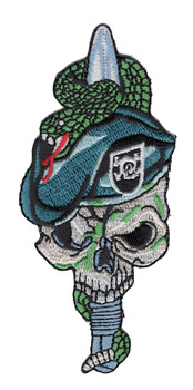 Special Forces Skull With Viper And Black Beret Patch