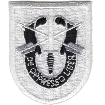 Special Forces Group Training Flash Patch With Crest