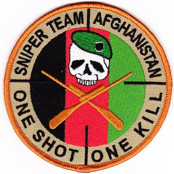 Special Forces Group Sniper Team Patch Afghanistan Sniper Skull