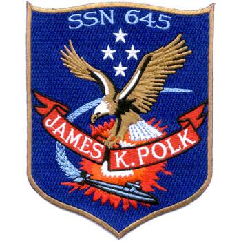 SSN-645 USS James K Polk Patch