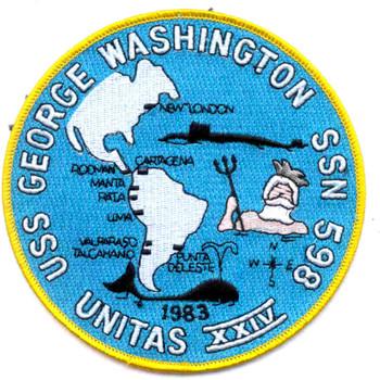 SSN-598 USS George Washington Patch - Version A