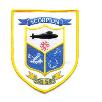 SSN-589 USS Scorpion Patch