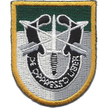 Special Forces Group JFK Flash Patch With Crest