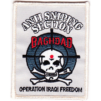 Special Forces Counter Terrorist Unit Team Anti-Sniping Section Patch