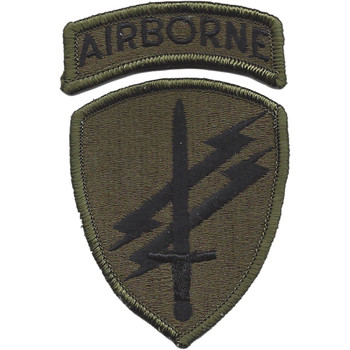 Special Forces Civil Affairs & Psychological Ops Airborne CMD Patch OD