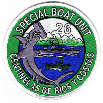 Special Boat Unit 26 Patch Hammerhead Shark Patch