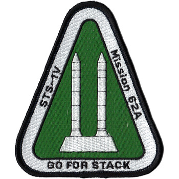 SP-393J NASA Go For Stack STS-1V Patch
